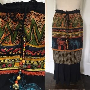 Vintage multi-tier skirt
